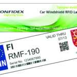 Confidex Windshield Label